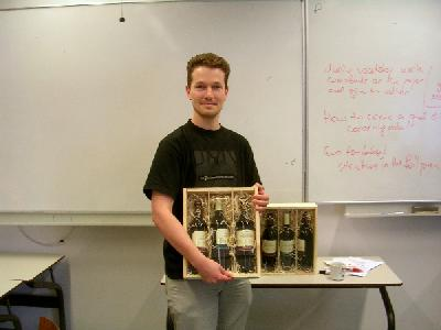 "Erik Zuidema, proudly displaying the WiR prize for ""Best Manuscript"" 2004"